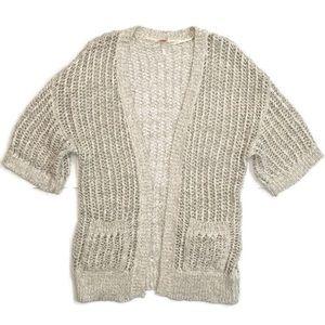 Free People Cream Knit Cardigan